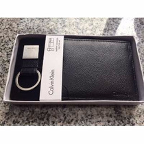 Billetera Calvin Klein Con Caja + Llavero Regalo Empresarial