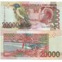 Billete Santo Tome Y Principe 20000 Dobras Año 2004 Pajaro