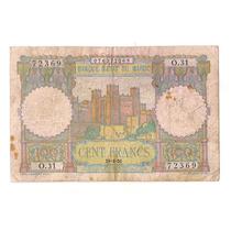 Marruecos Billete De 100 Francos Año 1945