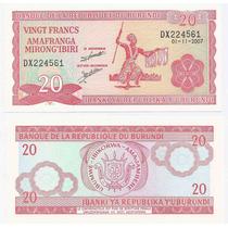 Burundi, Billete De 20 Francos Año 2007 - Pick#27d.5 - Sc