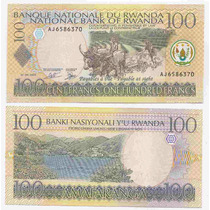 Rwanda, Billete De 100 Francos Del Año 2003 - Pick#29b - Sc