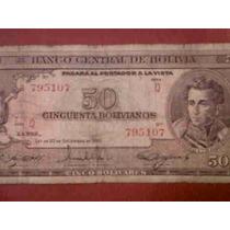 Billete 50 Bolivianos Año 1945