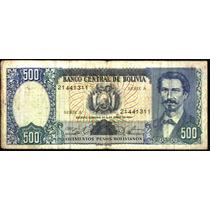 Bolivia 500 Pesos Bolivianos, Año 1981usado