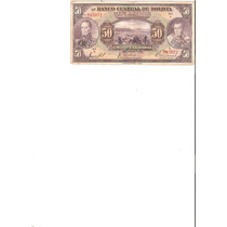 Liquido Billete De 50 Bolivianos De 1928