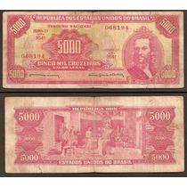 Billete Brasil 5000 Cruzeiros 1964