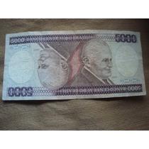 Billete Brasil 5000 Cruzeiros Banco Central Do Brasil