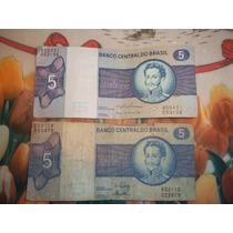 Lote De 2 Billetes De 5 Cruzeiros D. Pedro I