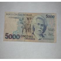 Billete Del Brasil 5000 Cruzeiros..
