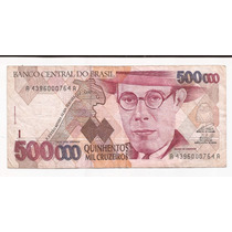 Brasil Billete De 500000 Cruzeiros Pick 236 B