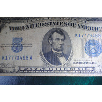 Billete 5 U$s Sello Azul Año 1934 A