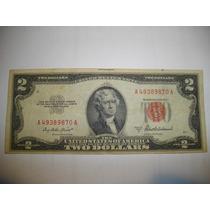 Billete De 2 Dolares Usa 1953- Sello Rojo