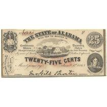 Billete Estados Unidos Alabama Año 1863 Guerra Civil
