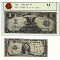 Lote 2 Billetes Ee.uu. U$ 1 Uno Tamaño Gde 1899 Certificado