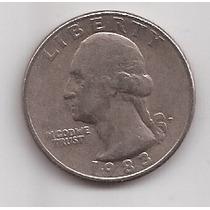Eeuu Moneda 1 Quater Dolar Año 1983 P !