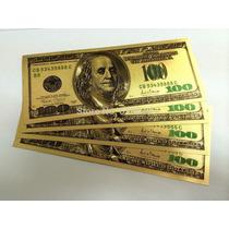 Billete 100 Dolares Bañado En Oro 24k