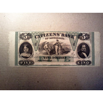 Billete 5 Dollars Citizens´bank Raro
