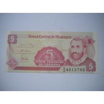 Billete De Nicaragua 5 Centavos De Cordoba