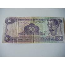Billete Coleccionable 50 Cordobas - Nicaragua