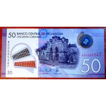 2015 - Billete De Nicaragua - 50 Cordobas - Polimero