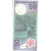 Nuevo Billete De Nicaragua 50 Cordobas Plastico Sin Circular