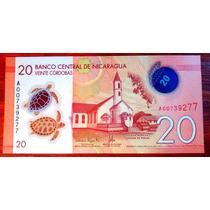 2015 - Billete De Nicaragua - 20 Cordobas - Polimero