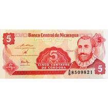 Billete De Nicaragua - 5 Centavos - 1993 - En Mendoza