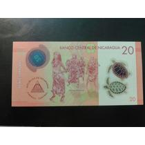 Billete Polímero De Nicaragua Año 2014