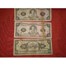 Ecuador - Billetes De 5 Y 50 Sucres - Años 1969 Y 1973