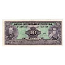 Argentvs * Venezuela Billete De 10 Bolivares 1986 - P#61a
