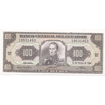 Ecuador Billete De 100 Sucres Pick 123 C !!
