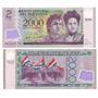 2 Billetes Paraguay Plastico 2000 Guaranies Año 2008
