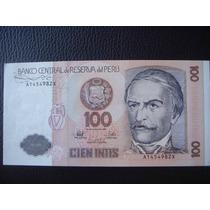 Peru - Billete De 100 Intis, Año 1987 - Sin Circular