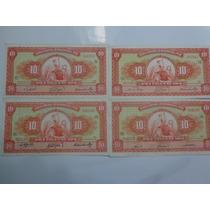 Lote De 4 Billetes De Perú De 10 Soles Años 60, 61, 62 Y 63