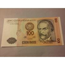 Billete De Perú. 100 Intis Año 1987. Sin Circular