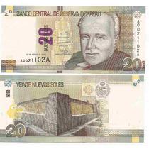 Nuevo Billete Peru 20 Nuevos Soles Año 2011 Sin Circular