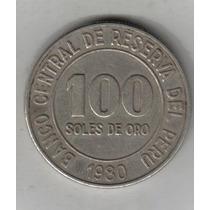 Peru Moneda De 100 Soles De Oro Año 1980 !!