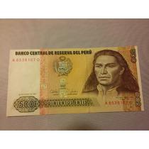 Billete De Perú. 500 Intis Año 1987. Sin Circular.