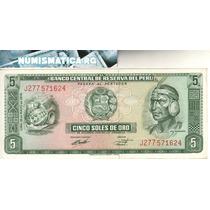 Perú Billete De 5 Soles De Oro 1974 Pick 99c - Sin Circular