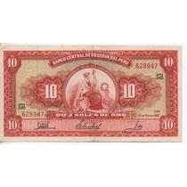 Perú 10 Soles De Oro Año 1967 M/b Bm 2019