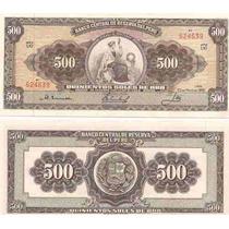 Billete Peru 500 Soles De Oro Año 1966/8 Tamaño Grande