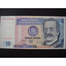 Perú - Billete De 10 Intis, Año 1987 - Sin Circular