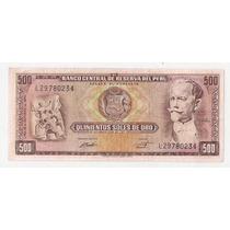 Peru Billete De 500 Soles De Oro Año 1970 Excelente!!!
