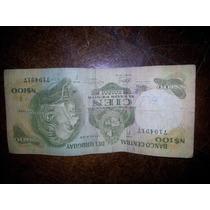 Billete 100 Nuevos Pesos Uruguayos - Ley 14.316