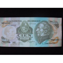 100 Pesos Nuevos Moneda Nacional S / C Uruguay