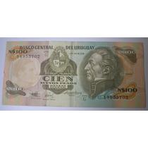 Billete Antiguo Uruguay 100 Nuevos Pesos