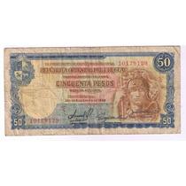 Billete De 50 Pesos Uruguayos, Año 1939