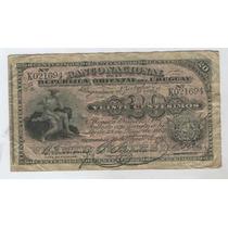 Billete De Uruguay De 20 Centavos Del Año 1887