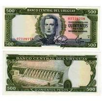 Billete Uruguay 500 Pesos Año 1967 Sin Circular