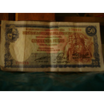 Billete Uruguayo De Cincuenta Pesos