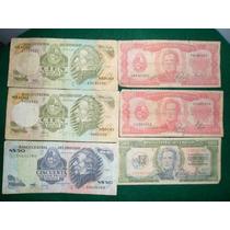 Lote De 6 Billetes Uruguay Pesos Nacional Nuevos Pesos Etc.
